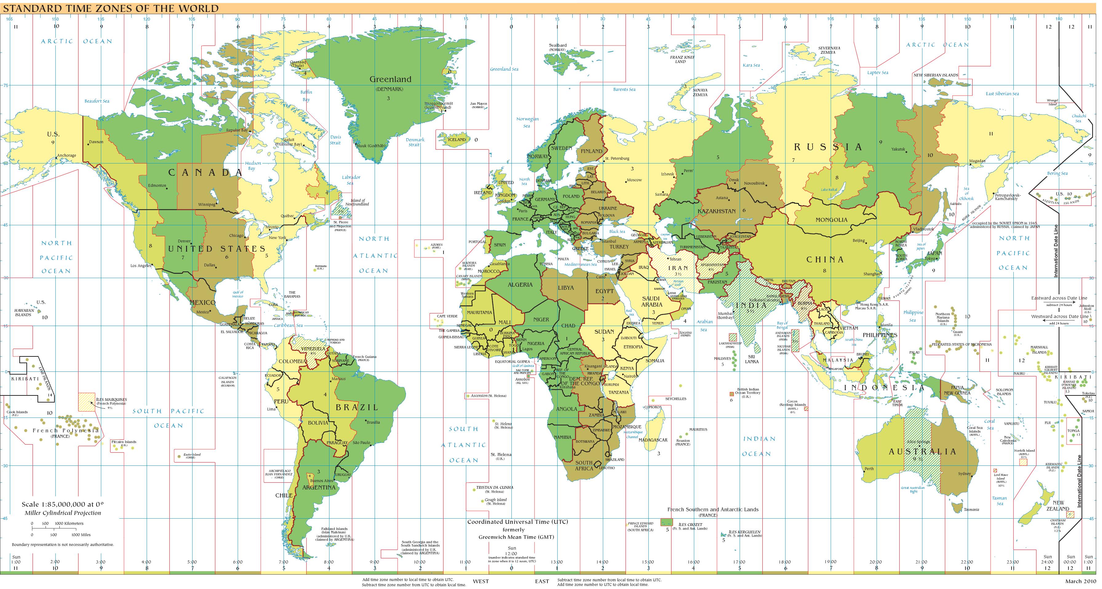 Karta Varlden Europa.Varldskarta Tidszoner Karta Over Varlden
